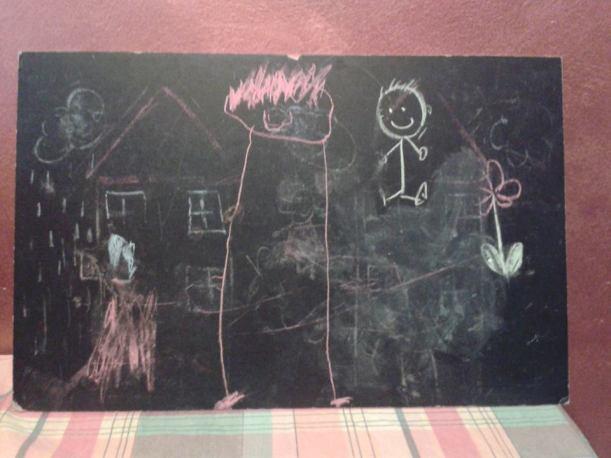 Simone ha disegnato la mamma!